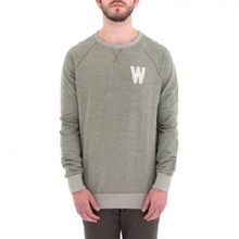 [WEMOTO] (40%세일) WADE CHEST CREWNECK - OLIVE MELANGE(71.414-635)