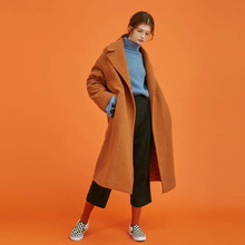 [Another A]boxy wool basic coat - camel