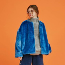 [Another A] fake fur lined jacket - 2color