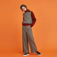 [Another A]herringbone wide pants - grey