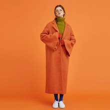 [Another A] wool blend long single coat - 3color