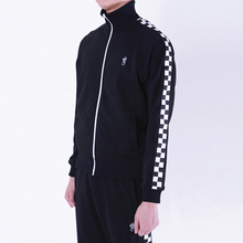 [Thanks Father] 2 Tone Track Jacket - Black
