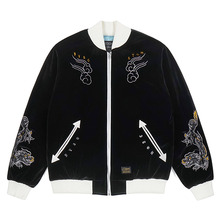 [STIGMA]DRAGON VELVET SOUVENIR JACKET - BLACK