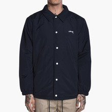 [Stussy] (10%세일) Smooth Stock Coach Jacket - Black
