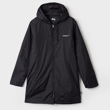 [Stussy] (10%세일) Insulated Long Hooded Coach - Black