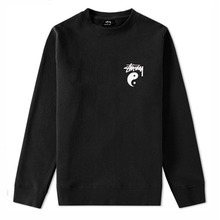 [Stussy] (10%세일) Stock Yin Yang Crewneck - Black