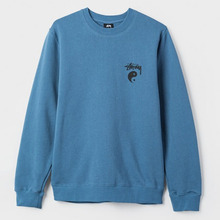 [Stussy] (10%세일) Stock Yin Yang Crewneck - Steel Blue