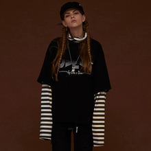 [DIM. E CRES.] (30%세일) Layered Stripe Turtleneck - Black