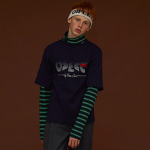 [DIM. E CRES.] (30%세일) Layered Stripe Turtleneck - Navy