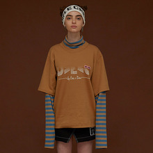 [DIM. E CRES.] (30%세일) Layered Stripe Turtleneck - Camel