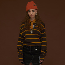 [DIM. E CRES.] (30%세일) Stripe PK T-Shirts - Brown