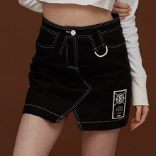 [DIM. E CRES.] (30%세일) Lining Denim Skirt - Black
