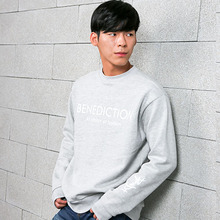 [BENEDICTION] Basic Logo Sweatshirt - Gray