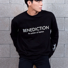 [BENEDICTION] Basic Logo Sweatshirt - Black