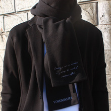[YORKMINSTER] Embroidery Muffler - Black,White
