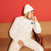 [AROUND80] Quilting Sweat Shirt - White