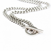 [RUSHOFF]Unisex The Ring Silver Chain Necklace