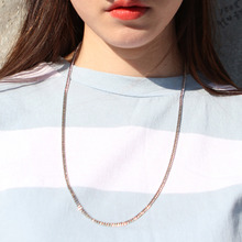 [RUSHOFF]Unisex The Basic Silver Chain Necklace - Surgical Steel