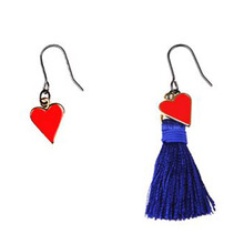 [RUSHOFF] The Heart Blue Tassel Earring