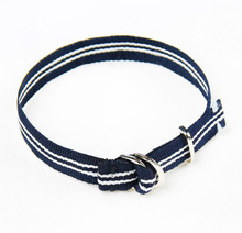 [RUSHOFF]Unisex Navy Stripe Casual Belt Bracelet