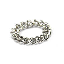 [RUSHOFF]Unisex Silver Basic Chain Ring -Surgical Steel