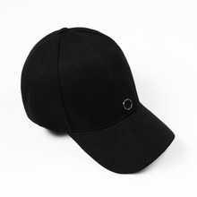 [RUSHOFF] Unisex Silver Ring Pendant BackPoint BallCap - Black