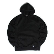 [RUSHOFF] Unisex RUSH OFF Black Patch Hoodie - Black