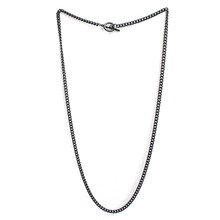 [RUSHOFF]Unisex Basic Black Chain Necklace