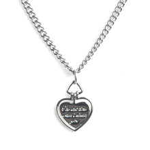 [RUSHOFF] Lettering Heart Chain Necklace - Surgical Steel
