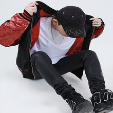 [20%세일][LAZ-D] Velvet Sukajan - Black&Red