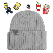 [RUSH OFF] Unisex Newness Label Basic Beanie +Wappens - Gray