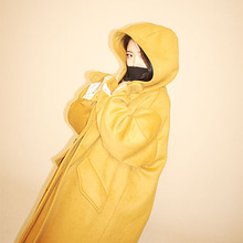 [Double adrenaline syndrome] Oversized hoodie coat - Mustard