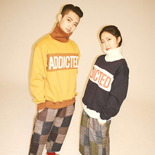 [Double adrenaline syndrome] Wide check banding pants - 2colors