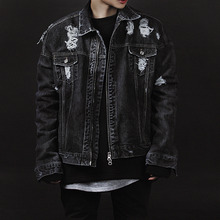 [Innovant] Dennim Washed Jacket - Black