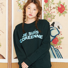 [위빠남][30%할인] JE SUIS COREEN(EN) SWEATSHIRT DARK GREEN