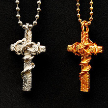[디바인925] Rope Cross Pendant