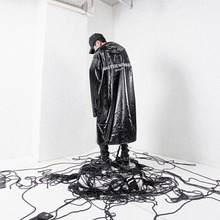 [MASTER NUMBER]GLITTER WIND STOPPER COAT - BLACK(ORDER MADE)