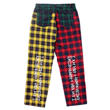 Tartan Check Patch Pants