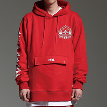 [HOUNDVILLE]WATERPROOF ZIP hoody red