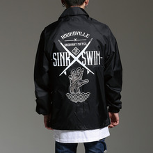 [HOUNDVILLE] 40%할인 SINK SWIM coach jacket black