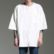 [HOUNDVILLE]OVERFIT POCKET T white