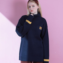 [MAUVE] Logo turtle knit - Navy