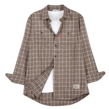 [THEDOSI] (남여공용) Classical Check Shirt-Brown