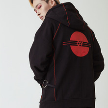 [20%할인][OY] PIPING HOODY ZIP - BL&RD
