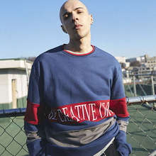 [MADMARS]COLORATED SWEATSHIRTS_NAVY