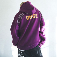 [MADMARS]ORANGE PIPE LINE HOODIE_PURPLE