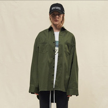 [SLEAZY CORNER] LONG SHIRTS-KHAKI