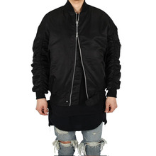 [Xsacky] Sacky 2way Shirring MA-1 Jacket - Black