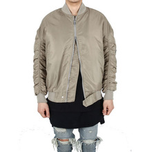 [Xsacky] Sacky 2way Shirring MA-1 Jacket - Sand Beige
