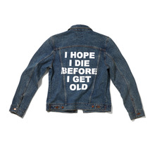 [Thanks Father]  Denim Jacket With Back Print